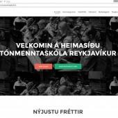 Tónmenntaskóli Reykjavíkur ný vefsíða