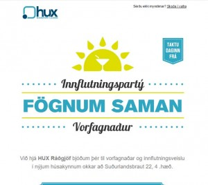 Vorfagnaður Hux - stýring viðburðar